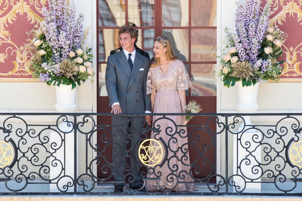 Beatrice Borromeo weds Pierre Casiraghi in Valentino.