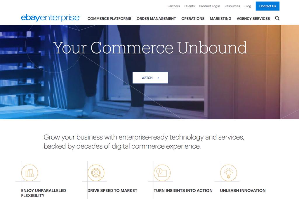 The Ebay Enterprise homepage.