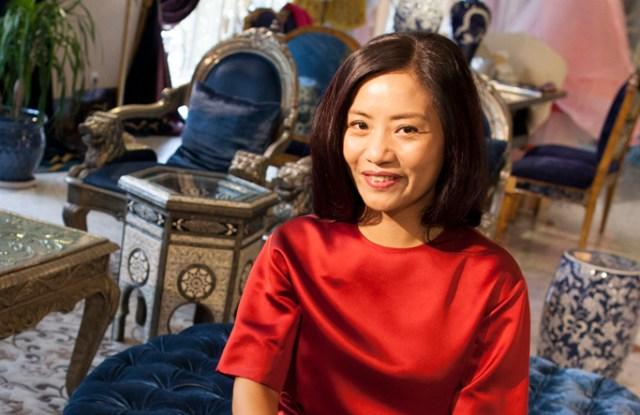 Guo Pei met with Apple's Tim Cook in her Beijing atelier earlier this month.