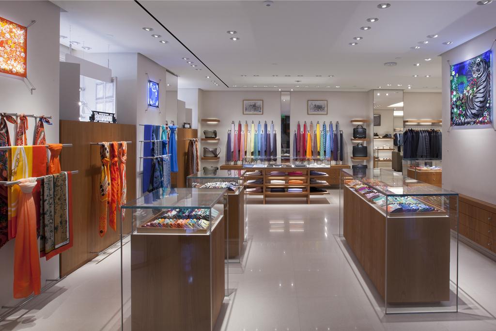 Inside the Hermès store in Boston