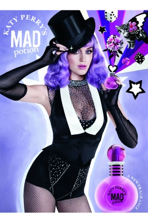 A visual from Katy Perry's Mad Potion ad campaign.