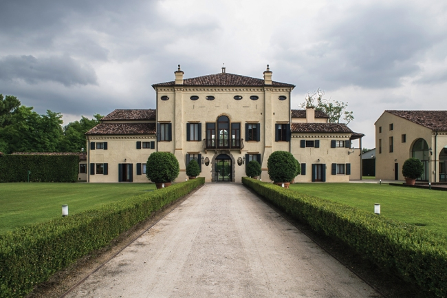 The workrooms in the 16th-century villa that Kering restored for its eyewear division headquarters in Padua, Italy.