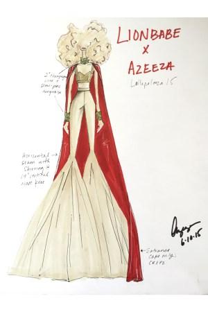Azeeza's sketch for Lion Babe.