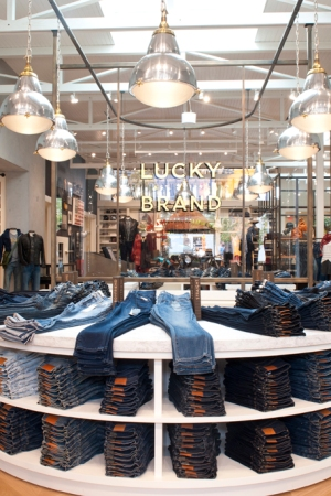 Highlighting a lifestyle rather than items for sale, Lucky Brand's new store at The Point in El Segundo, Calif., serves as the template for future retail openings.