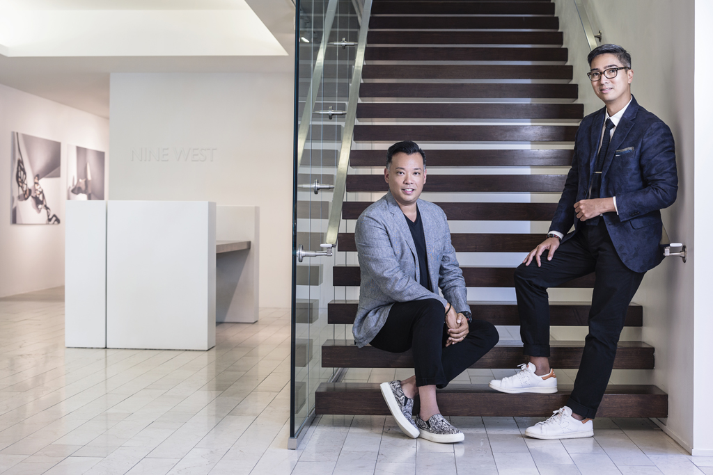 Jimmy Chan and Rafe Totengco of Nine West