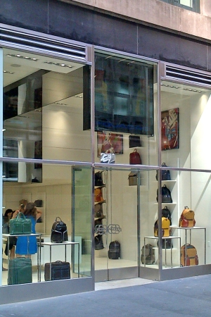 The new Piquadro boutique in New York.