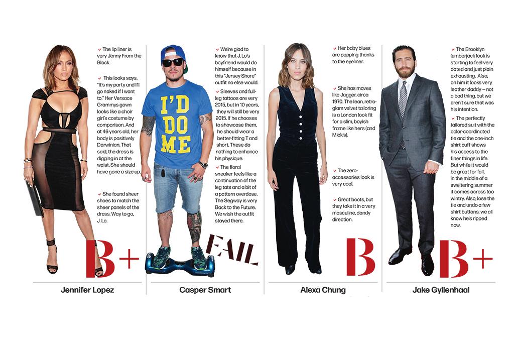 Jennifer Lopez, Casper Smart, Alexa Chung, Jake Gyllenhaal