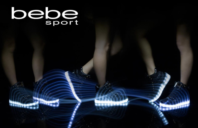 Bebe's new athleisure footwear collection.