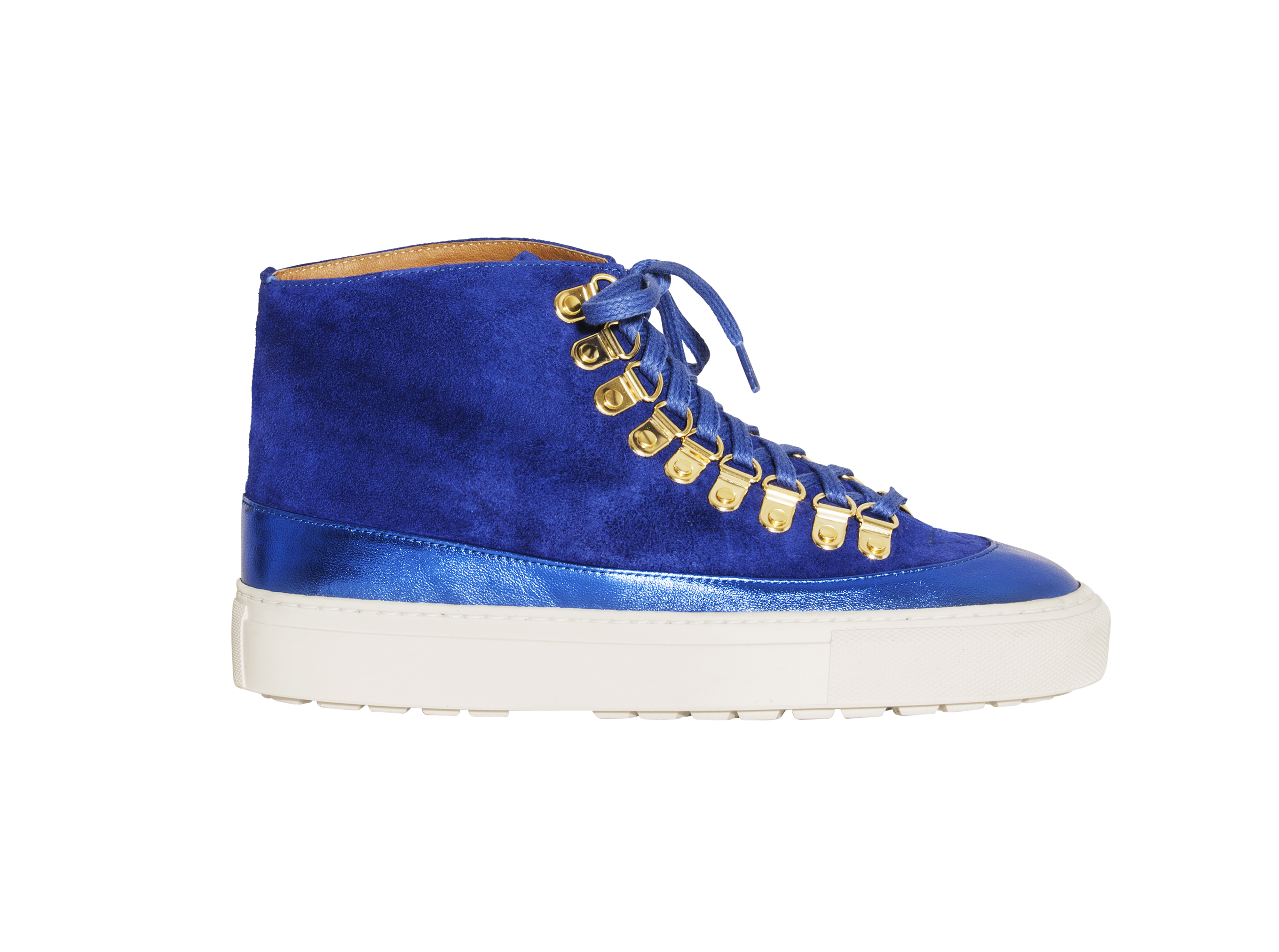 Rodebjer's suede and metallic leather Harrison sneaker.