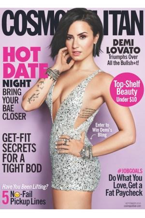 Demi Lovato on the cover of Cosmo