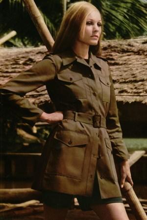 A YSL saharienne, or safari jacket, from 1969-1970