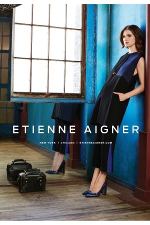 Etienne Aigner's fall campaign features Tali Lennox.