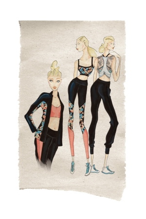 A sketch of active-wear from Jessica Simpson