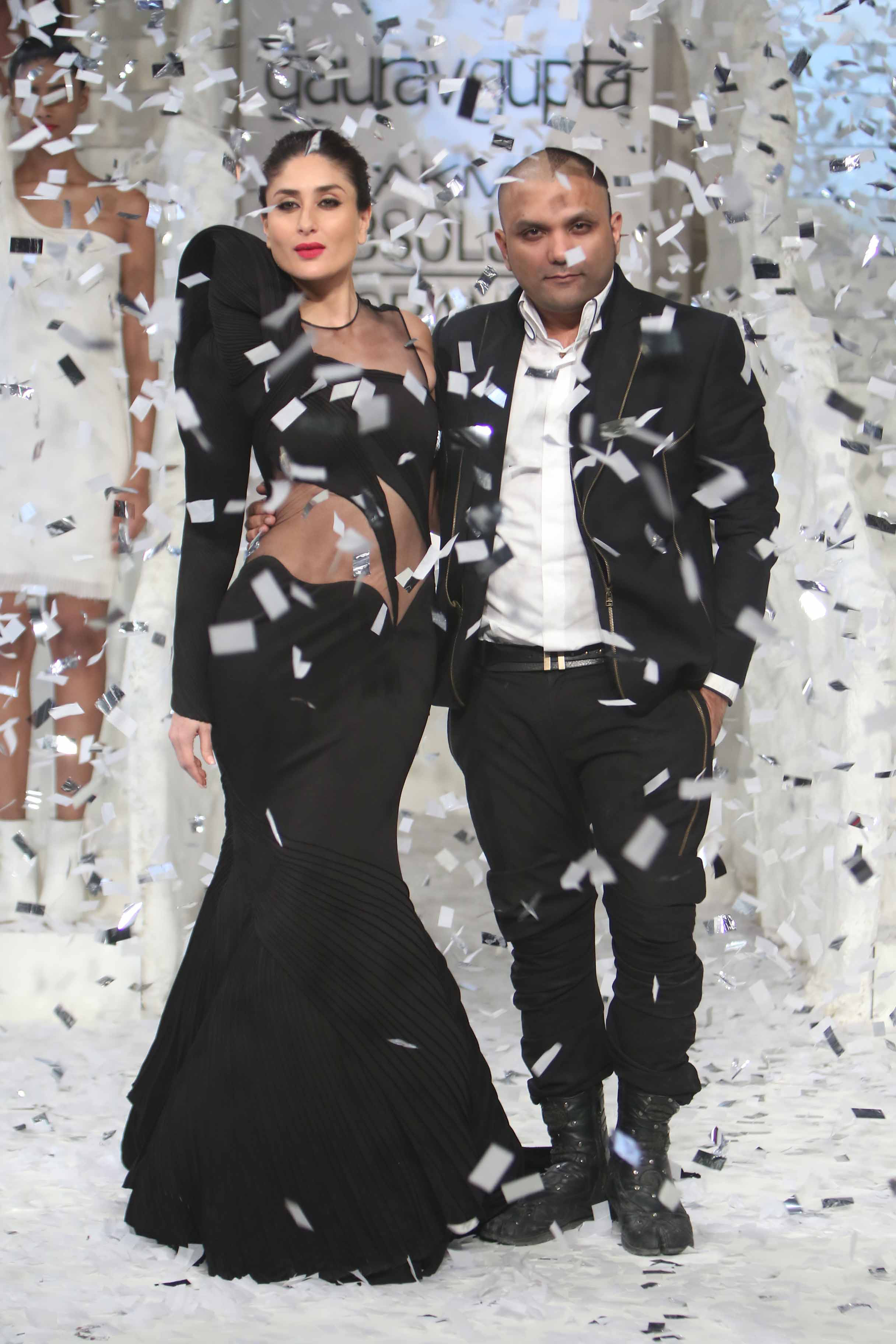 Lakme brand ambassador Kareena Kapoo Khan with Lakme Grand Finale Design.