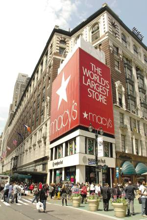 Macy's posted $23 million in net income.