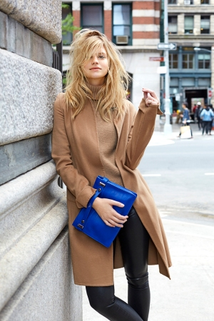 Nadine Leopold is featured in the Botkier New York fall campaign.