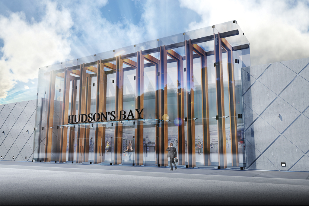 Rendering of the Hudson's Bay renovation in Richmond Hill, Ontario.
