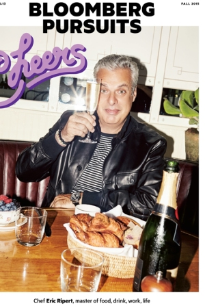 Eric Ripert on the cover of Bloomberg Pursuits