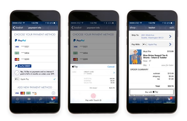 Zulily Apple Pay Rollout