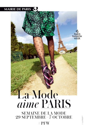 "The City of Paris' campaign ""La Mode Aime Paris"""
