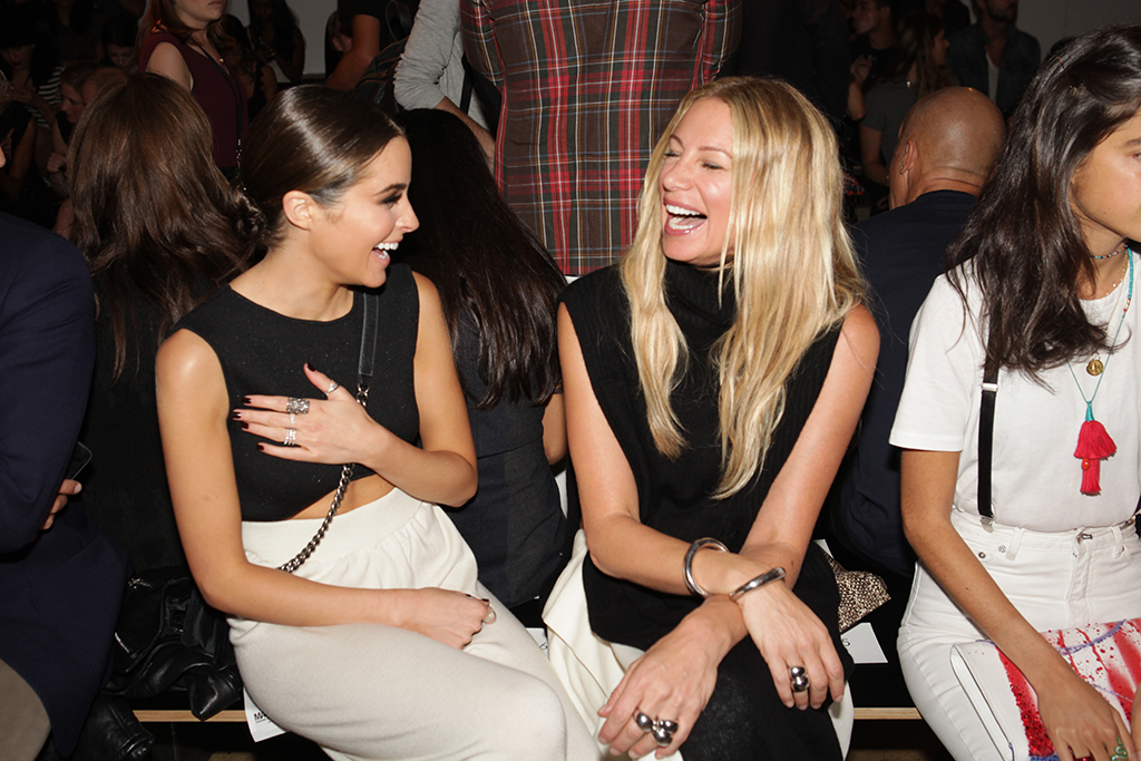 Olivia Culpo and Jennifer Fisher, Baja East Front Row
