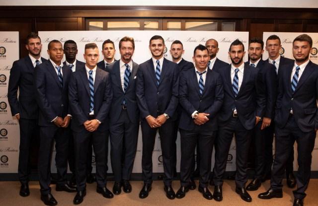 Inter Milan wearing Brooks Brothers