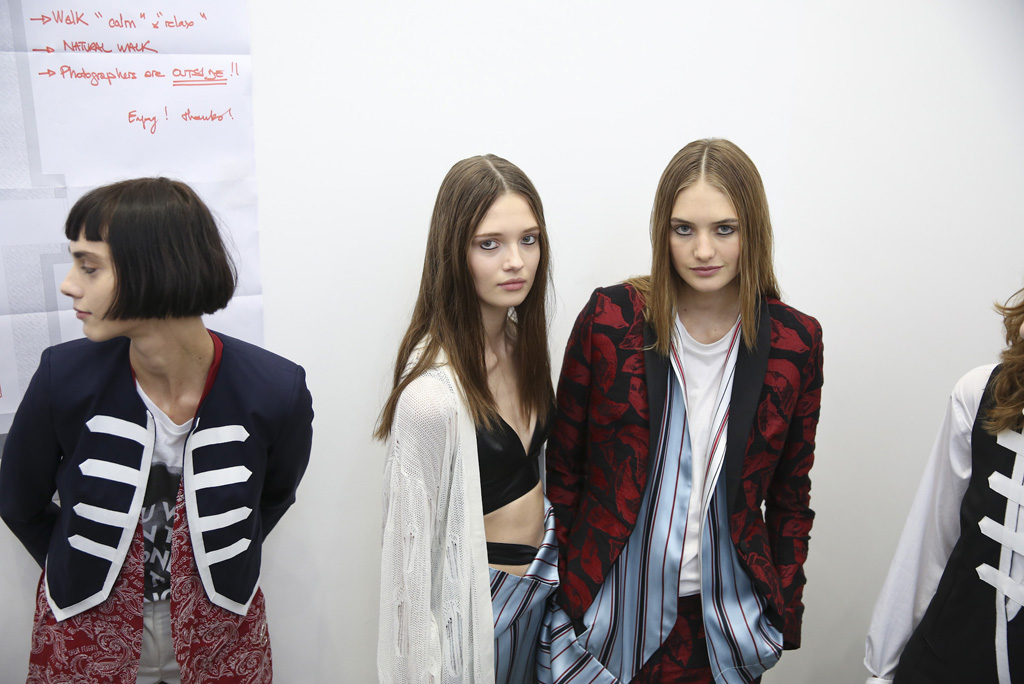 Backstage at Each x Other Spring 2016
