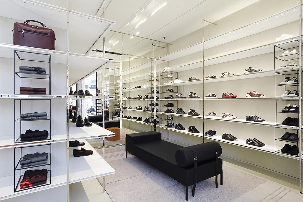 the casual shoe salon on the main floor