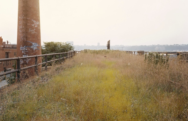 Joel Sternfeld's image of the High Line sent along with the Coach runway invitation.