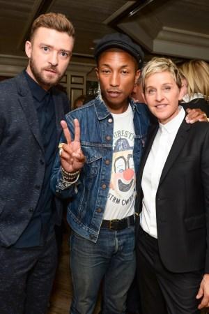 Justin Timberlake, Pharrell Williams and Ellen DeGeneres ED by Ellen x BG Dinner Hosted by Josh Schulman and Linda Fargo