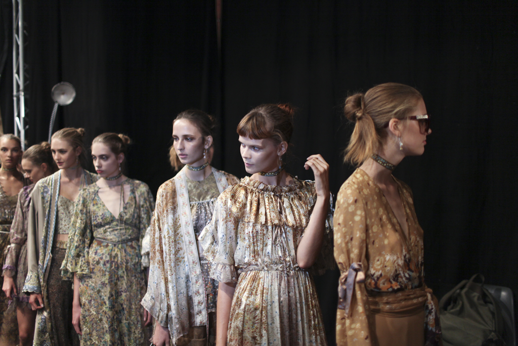 Backstage at Etro Spring 2016