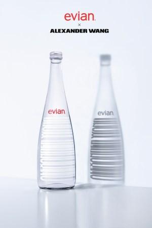 The Alexander Wang designed Evian bottle.
