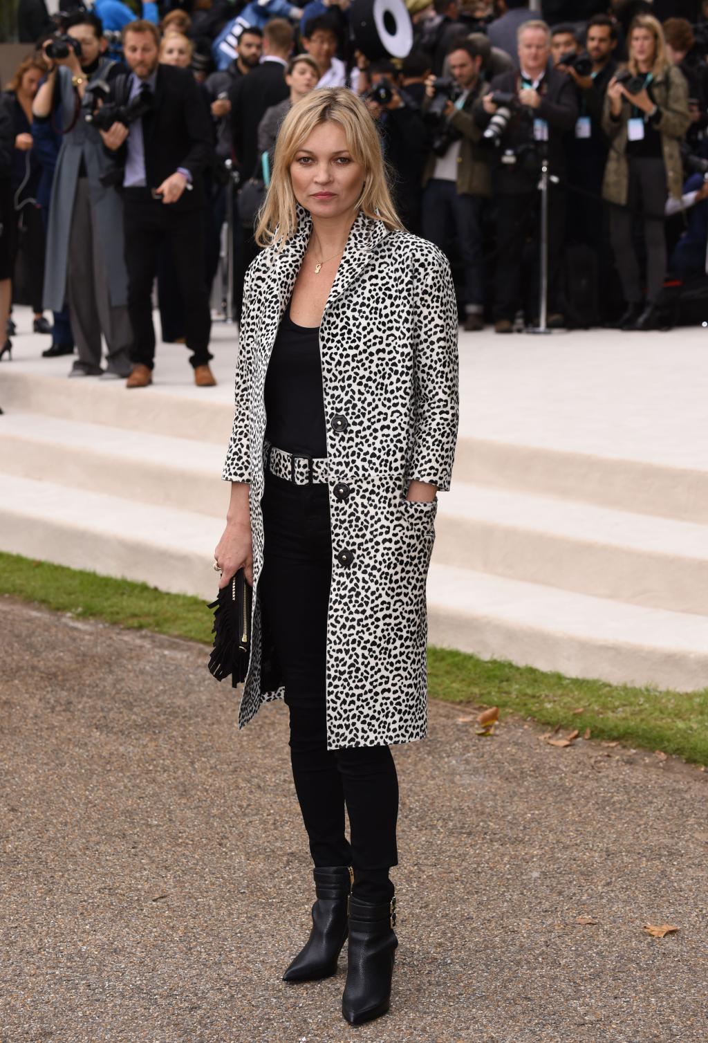 Kate Moss Burberry Prorsum Spring 2016 Front Row