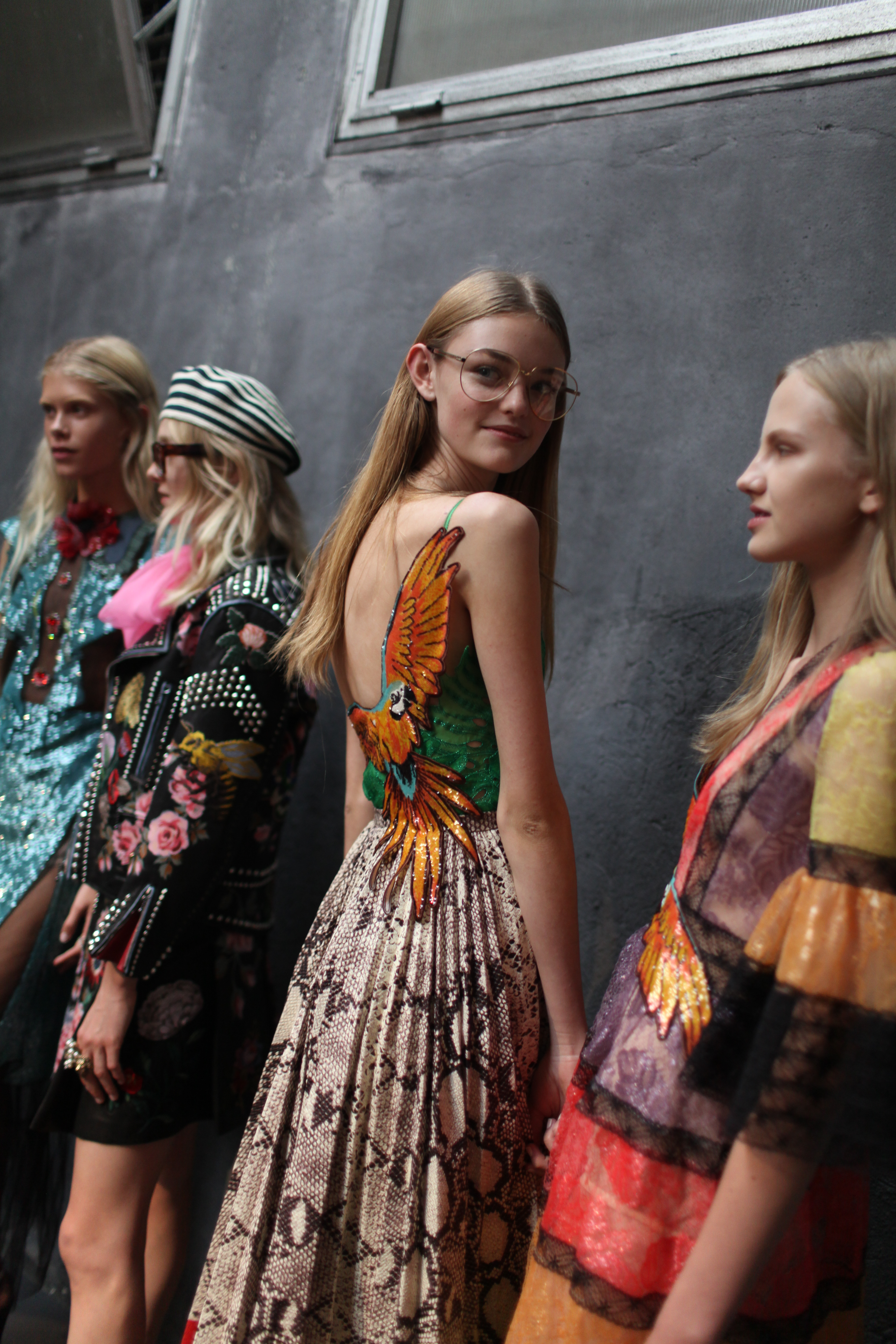 Backstage at Gucci RTW Spring 20