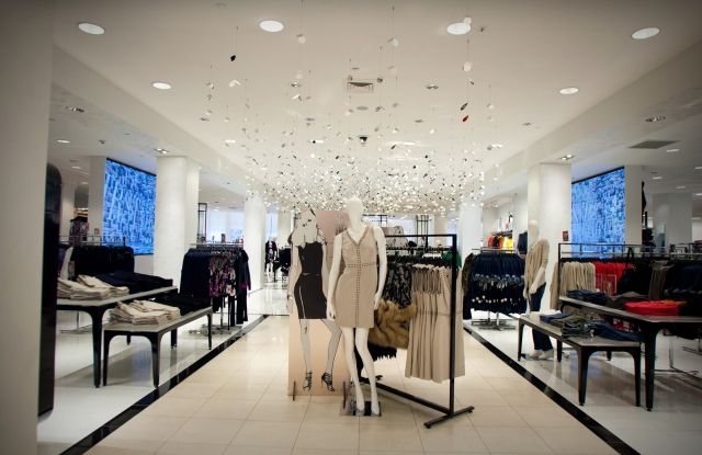 Inside the Macy's I.N.C. shop at Herald Square.