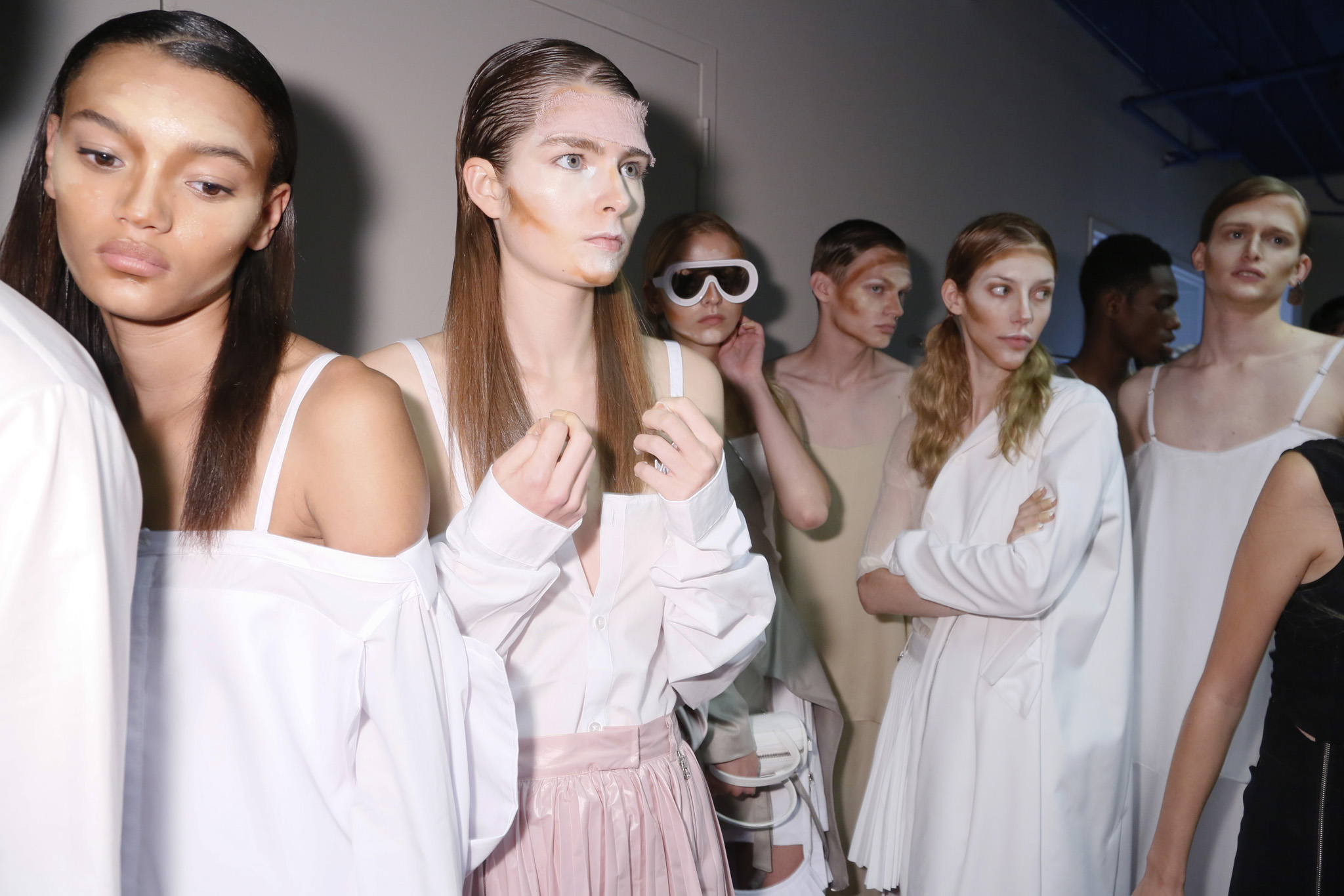 Backstage at Hood By Air RTW Spring 2016
