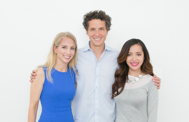 Ipsy founders president Jennifer Goldfarb, chief executive officer Marcelo Camberos and beauty vlogger Michelle Phan