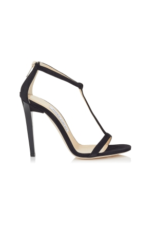 Jimmy Choo's suede Lucille T-strap sandal.