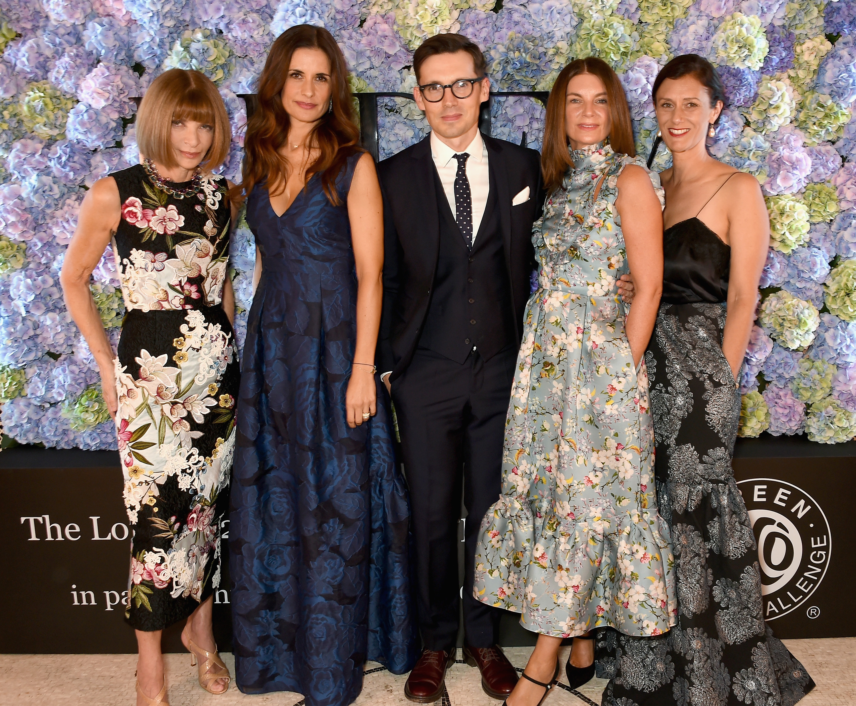 Anna Wintour, Livia Firth, Erdem Moralioglu, Natalie Massenet and Sally Singer The London 2015 Green Carpet Collection by Erdem Event