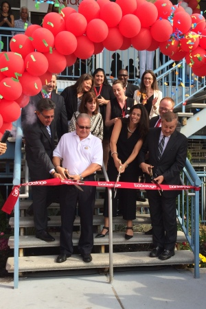 The ribbon cutting ceremony today at Macy's.