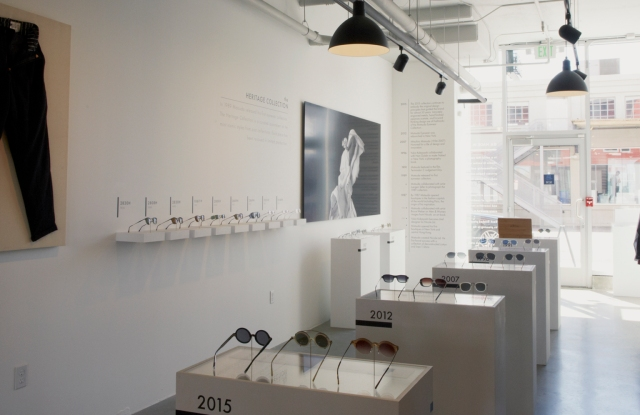 Matsuda pop-up sunglass boutique in Wittmore