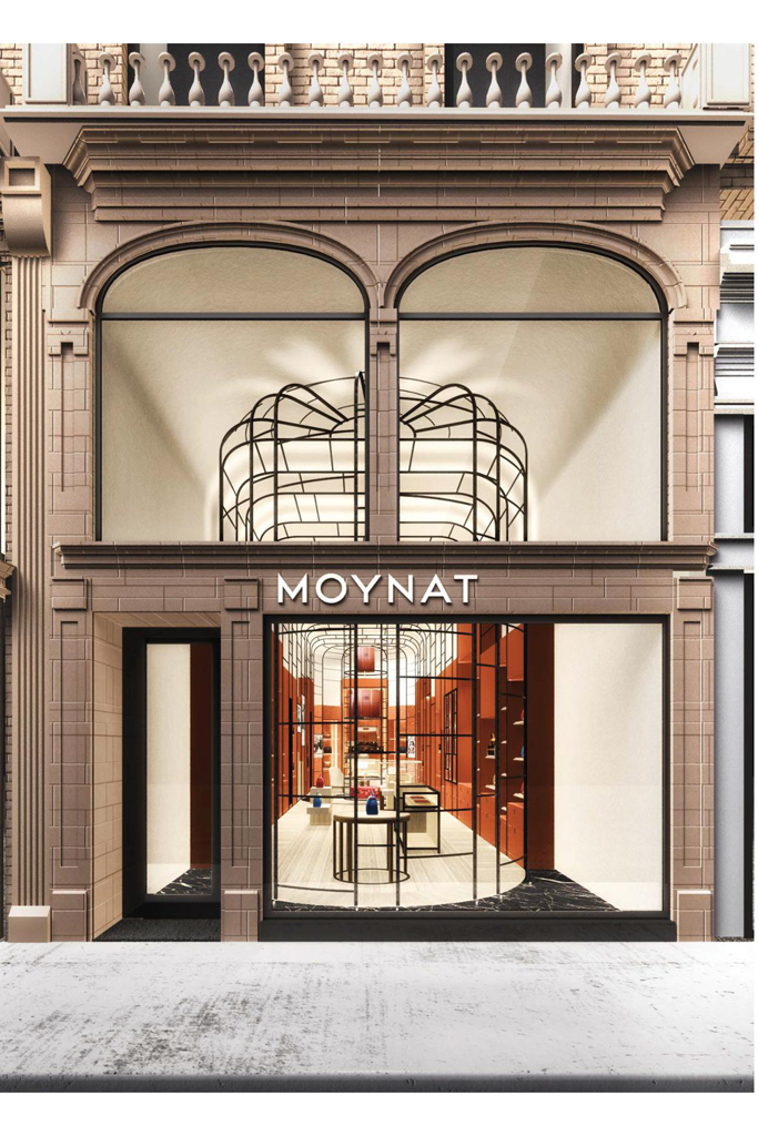 A rendering of the Moynat store on Madison Avenue