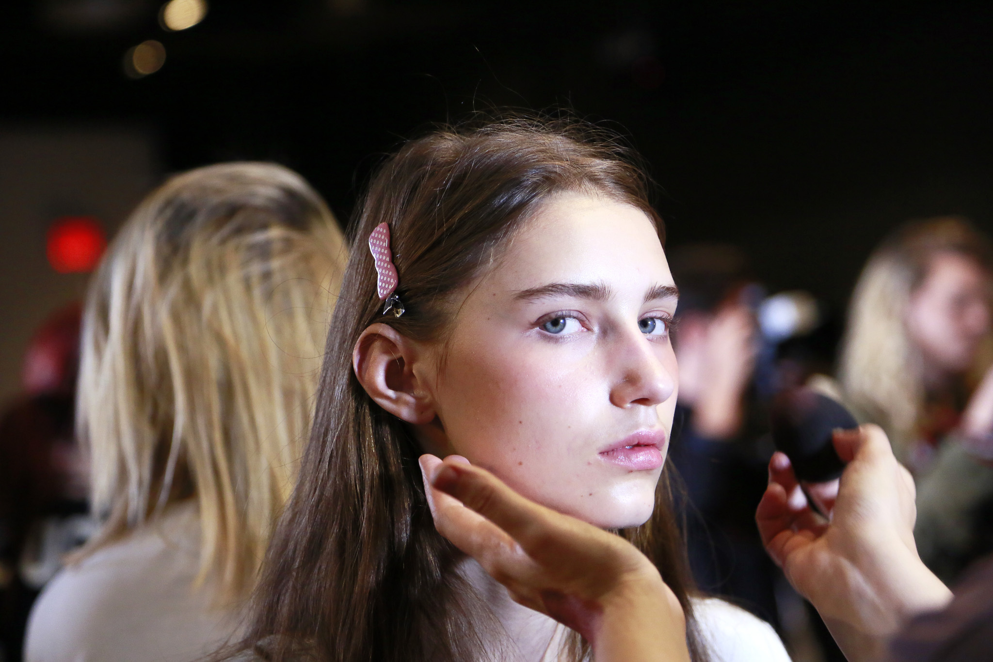 Backstage at Narciso Rodriguez RTW Spring 2016