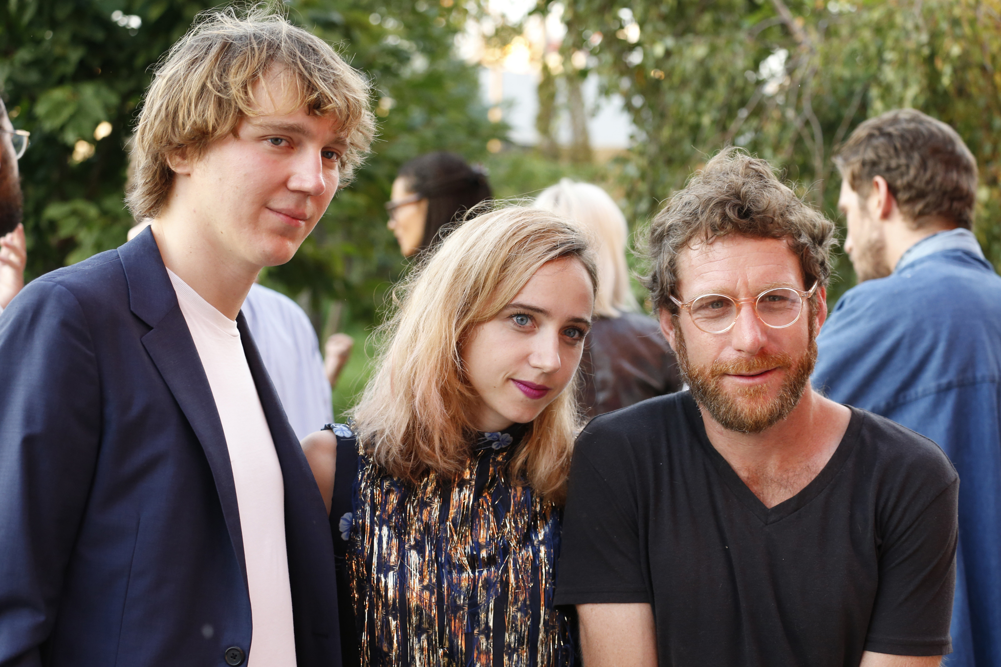 Paul Dano, Zoe Kazan and Dustin Yellin.