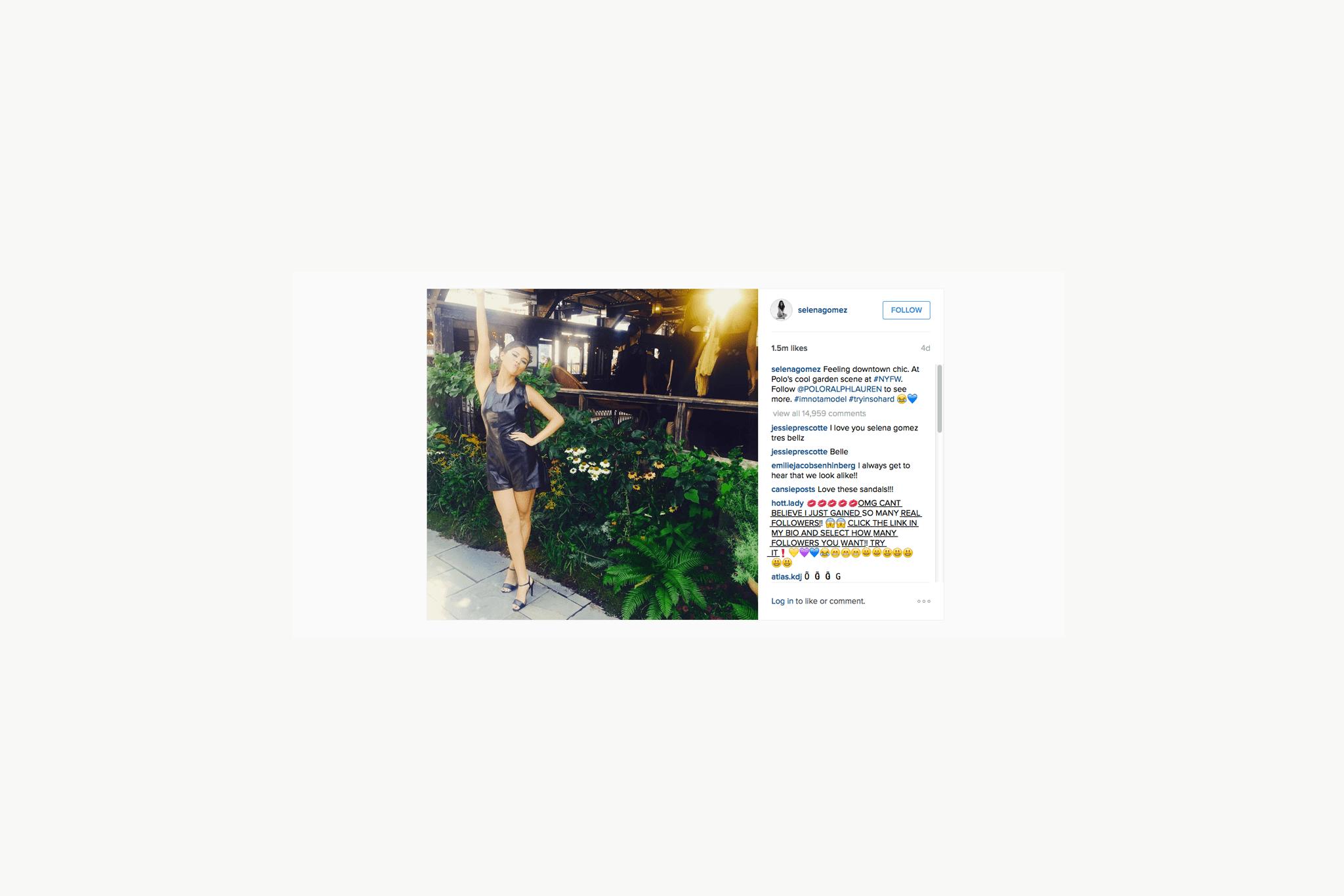Selena Gomez's Instagram
