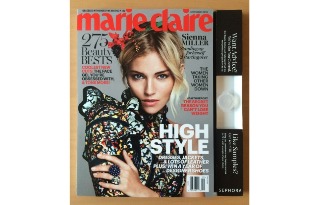 Sephora and Marie Claire have teamed up for an outsert in the magazine's October issue.