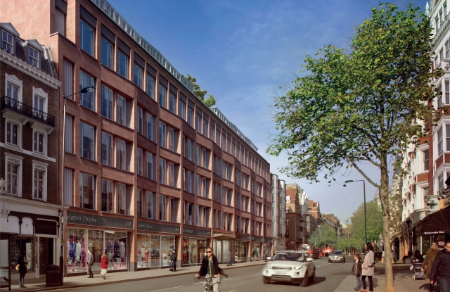 A view of the new Sloane Street development.