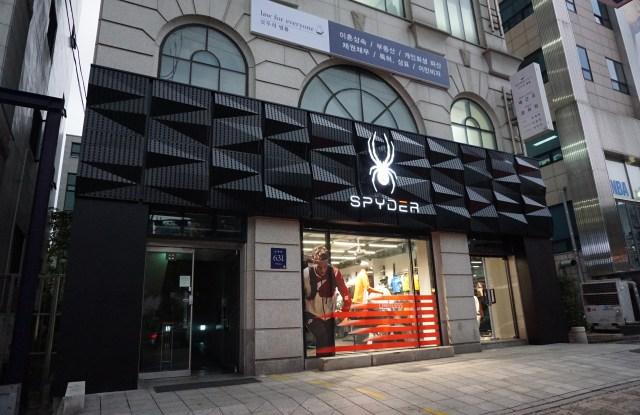 Spyder store in Hakdong, Seoul.