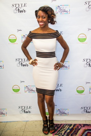 Velvet Lattimore at the Style Noir pop-up exhibition.