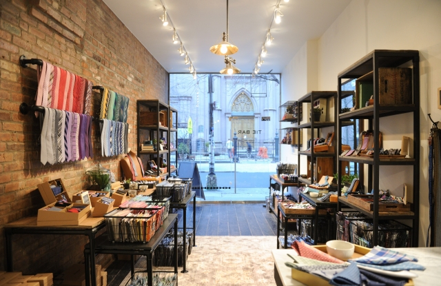 The Tie Bar's former pop-up in New York City.